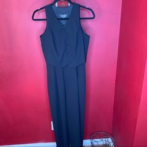 laundry by shelli segal black jumpsuit size 6